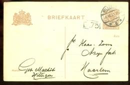 HANDGESCHREVEN BRIEFKAART Uit 1921 Van HILLEGOM Naar HAARLEM (11.547e) - Postwaardestukken