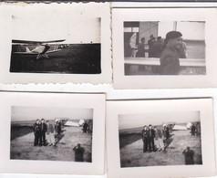 4 MINI-PHOTO----AVIATION--Sur Le Terrain--( Une Photo En Double )--voir 2 Scans - Aviation