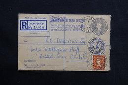 ROYAUME UNI - Entier Postal En Recommandé De Dartford Pour Les Forces Britanniques à Berlin En 1957 - L 28584 - Luftpost & Aerogramme