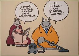 Geluck - Le Chat - Carte Postale Publicitaire Le Soir Victoire # 2 - Bandes Dessinées