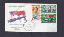 Togo 1975 PA 261-63 FDC Espace Apollo Soyouz Cosmonautes Drapeaux - Togo (1960-...)
