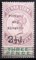 SIERRA LEONE - (Colonie Britannique) - 1897 - Timbre Fiscal - N° 45 - 2 1/2 D. S. 3 P. Violet-brun - (Victoria) - Sierra Leone (...-1960)