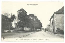 SAINT-POURÇAIN-sur-BESBRE (03, Allier) L'église Et La Place - Animé - 1920 - Non Classificati