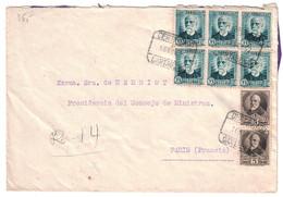 ESPAGNE SPAIN - LETTRE COVER RECOMMANDÉE REGISTERED CERTIFICADO De CARTAGENA Pour PARIS FRANCIA - 1931-Aujourd'hui: II. République - ....Juan Carlos I
