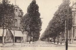 CARTE POSTALE ORIGINALE PHOTO ANCIENNE : ROUBAIX LE BOULEVARD DE CAMBRAI NORD (59) - Roubaix