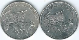 Dominican Republic - 25 Centavos - 1990 (KM71.2) & 1991 (KM71.1) - Dominicana