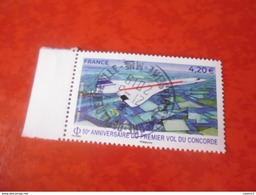 OBLITERATION RONDE  SUR TIMBRE GOMME ORIGINE CONCORDE - France