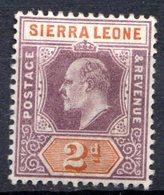SIERRA LEONE - (Colonie Britannique) - 1903 - N° 52 - 2 P. Violet-brun Et Orange - (Edouard VII) - Sierra Leone (...-1960)