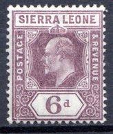 SIERRA LEONE - (Colonie Britannique) - 1903 - N° 57 - 6 P. Violet-brun - (Edouard VII) - Sierra Leone (...-1960)