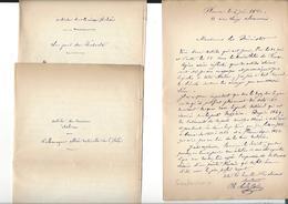 CHARLES SOULACROIX 1825 - 1899  Autographe Texte Daté 1881 Florence ( Joint Copies Traduites De Journaux Italiens ) - Autographes