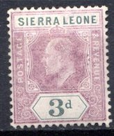SIERRA LEONE - (Colonie Britannique) - 1904-05 - N° 67 - 3 P. Violet-brun Et Gris - (Edouard VII) - Sierra Leone (...-1960)