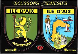 CARTE -AUTOCOLLANT-ECUSSON ADHESIF-Edit AS De COEUR-17-ILE D AIX-TBE - Stickers