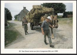 56 - LANGONNET - Yves Derval Rentre Son Foin - 1988 - Autres Communes