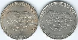 Dominican Republic - ½ Peso - 1984 (Medal Alignment - KM62.1) & 1987 (Coin Alignment - KM62.2) - Dominicana