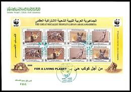 LIBYA - 2008 WWF Fox - PERFORATED Minisheet (Libyan FDC) - Ohne Zuordnung