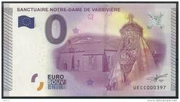 Billet Touristique 0 Euro 2015  Sanctuaire Notre Dame De VASSIVIERE - Essais Privés / Non-officiels