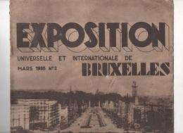 EXPOSITION INTERNATIONALE BRUXELLES 1935 - PLAN - PAVILLONS - TRANSPORTS - VIEUX BRUXELLES - ARTS - FETES - LOGEMENT - - Dépliants Touristiques
