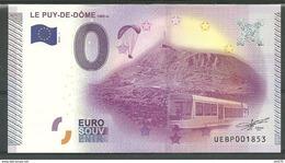 Billet Touristique 0 Euro 2015 Le PUY De Dôme  1465 Mètres  épuisé - Essais Privés / Non-officiels