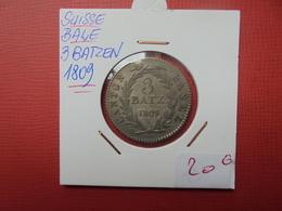 SUISSE (BÂLE) 3 BATZEN 1809 - Suisse