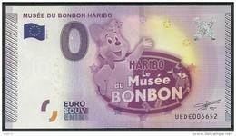 Billet Touristique 0 Euro 2015 Musée Du Bonbon HARIBO épuisé - Essais Privés / Non-officiels
