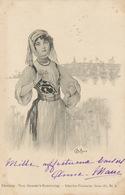 Bottaro  . Undivided Back. Used 1901 . Muslim Orient Girl . Oasis . Mosque . Edit Theo Stroefer Nurenberg - Bottaro