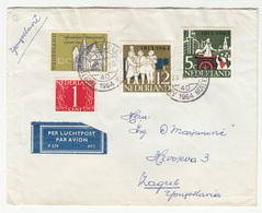 Netherlands Letter Cover Travelled Air Mail 1964 To Zagreb B190501 - Lettres & Documents