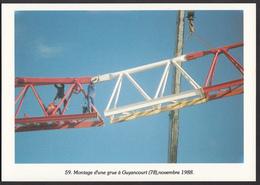 78 - GUYANCOURT - Montage D'une Grue - 1988 - Guyancourt