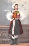R052609 Old Postcard. Woman In National Costume. Caspar And Poltnig - Postcards