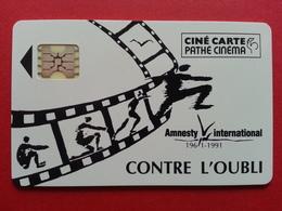 CINECARTE PATHE AMNESTY Contre L'OUBLI 1961-1991 Libération Europe2 Télérama (BB0519 - Frankreich