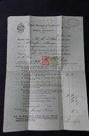 ROYAUME UNI - Fiscaux Perforés Sur Document En 1931 - L 28614 - Steuermarken