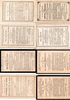 8 19de Eeuwse Doodsprentjes Lede, Wanzele, Serskamp - Images Religieuses