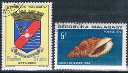 Madagascar 1964  -  Yvert  388 + 447  ( Usados ) - Madagascar (1960-...)