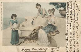 Art Nouveau Timbrée 1901 Vers Larrode 63  Poete Roger Amblard. Belles Femmes Grèce . Peau Panthère . Edit Tuck 89 - 4 - Illustrators & Photographers