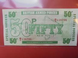 GRANDE-BRETAGNE (MILITAIRE) 50 PENCE(6eme Série) PEU CIRCULER/NEUF - Forze Armate Britanniche & Docuementi Speciali