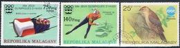 Madagascar 1975  -  Yvert  567 + 573 + 575  ( Usados ) - Madagascar (1960-...)