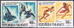 Madagascar 1976  -  Yvert  578 + 579  ( Usados ) - Madagascar (1960-...)