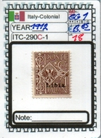 EUROPE#ITALY COLONIAL EMPIRE#CLASSIC#1900> MNH**/MH*#(ITC-290C-1 (18) - Libyen