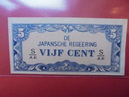 JAPON (TERRITOIRES OCCUPES 1940-45) 5 CENT PEU CIRCULER - Japon