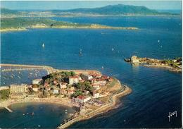 CPM/CPSM  - BANDOL - Pointe Encanet, Île De Bendor Et Pointe De La Cride - Vue Aérienne - Bandol