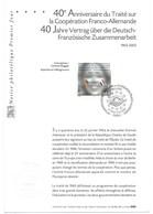 2003 NOTICE PHILATELIQUE PREMIER JOUR 40° ANNIVERSAIRE DU TRAITE SUR COOPERATION FRANC ALLEMANDE + ENV DEPUTE AVEYRON - FDC