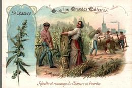 CHROMO BON POINT DRAGEES DE TABUROL MONAL  DANS LES GRANDES CULTURES  LE CHANVRE - Chromos