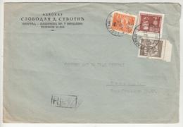 Advokat Slobodan D. Subotić, Beograd Company Letter Cover Travelled Registered 1947 Beograd B190501 - Covers & Documents