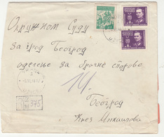 Yugoslavia Letter Cover Travelled Registered 1946 Užice To Beograd B190501 - Covers & Documents