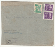 Yugoslavia Letter Cover Travelled Registered 1946 Beograd B190501 - Covers & Documents