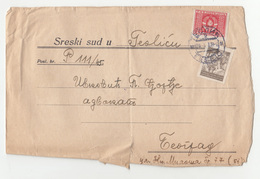 Yugoslavia Teslić District Court Official Letter Cover Travelled 1948 Teslić To Beograd B190501 - Covers & Documents