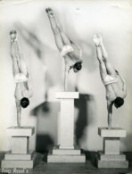 France Artistes De Music Hall Trio Roal's Ancienne Photo 1940 - Famous People