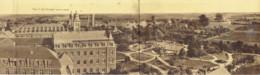 Wavre Notre Dame Institut Des Ursulines A Vol D'oiseau Avant La Guerre 1914/18 Tryptique Entier Sans Déchirures - Sint-Katelijne-Waver