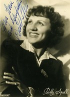 France Artiste Music Hall Dedicace Betty Spell Ancienne Photo Harcourt 1940 - Famous People