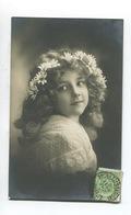 Jolie Carte Photo Enfant Petite Fille Portrait Couronne Marguerites De TOURNAI à TOURCOING - Portraits