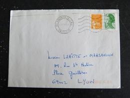 AVIGNON SAINT JEAN - VAUCLUSE - FLAMME MUETTE DOUBLE CERCLE SUR ROULETTE LIBERTE GANDON ET MARIANNE LUQUET - Marcophilie (Lettres)